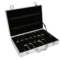 Wholesale cases suitcases for sale - Group buy 24 Grid Aluminum Suitcase Case Display Storage Box Watch Storage Box Case Watch Bracket Clock Clock