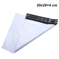 Wholesale adhesive shipping pouches for sale - Group buy 20x26 cm White Express Shipping Mailer Envelope Self Sealable Package Bag Self Adhesive Post Courier Mailer Plastic Mail Packing Pack Pouch