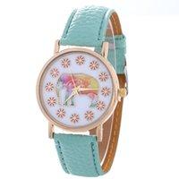 ingrosso le donne guardano l'elefante-NEW Fashion Hippie Elephant orologio Donna Golden Women orologio da polso Vintage PU in pelle casual abito da orologio stile Ginevra Drop shipping