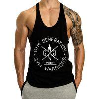 muskel-stil westen großhandel-New GYM Explosive Muscle Klassische Fitness-Laufweste für Herren, modische Sommer-Atmungsaktive Schweißabsorption aus Baumwolle