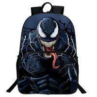 mochilas de maravilla al por mayor-Marvel Venom Mochila Student Bag Hero Mochila para niños Vengadores Hombres Bolsa Y190601