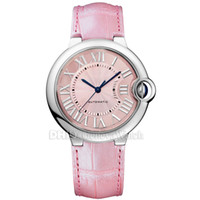 Wholesale import cars for sale – custom Woman Designer Luxury Watches CAR BALLON Lady Fashion Import Mechanical Automatic Watch MM L Stainless Steel Case Pink Leather Strap