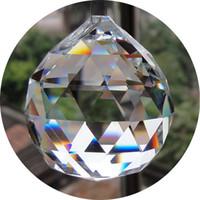 colgante araña bola de cristal al por mayor-ENVÍO GRATIS 30mm cristales para candelabros facetas colgantes gotas de cristal bola para piezas de araña para la decoración de piezas de cristal