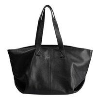 bolsa de couro real de mulher grande venda por atacado-Grande Capacidade macia sacola 100% Natural Couro Real Women Bucket Bag grandes sacos de compras Pele de vaca