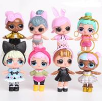 jogos de tv venda por atacado-9 CM LoL Dolls com mamadeira PVC Americano Kawaii Crianças Brinquedos Anime Figuras de Ação Realistas Bonecas Reborn para meninas 8 Pçs / lote crianças brinquedos