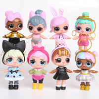 anime çocukları toptan satış-Biberon ile 9 CM LoL Bebekler Amerikan PVC Kawaii Çocuk Oyuncakları Anime Aksiyon Figürleri Gerçekçi Reborn Bebekler kızlar için 8 Adet / grup çocuklar oyuncaklar