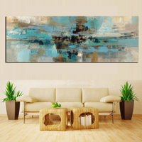 Wholesale canvas prints blue wall painting for sale - Group buy Light Blue Canvas Painting Posters and Prints Modern Abstract Oil Painting on the Wall Art Living Room Cuadros Decoracion Salon