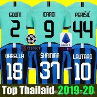 thailand jersey al por mayor-INTER MILAN 18 19 20 Thailand Camiseta de fútbol ICARDI LAUTARO Martinez Inter Milan 2019 2020 Camiseta de fútbol PERISIC NAINGGOLAN POLITANO EDER AMBROSIO 18 19 camiseta de fútbol