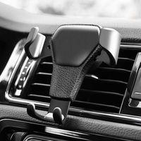 gravity handy großhandel-Autotelefonhalterung für das Telefon im Auto Halterung für Lüftungsschlitze Kein magnetischer Handyhalter Universal Gravity Smartphone Cell Support
