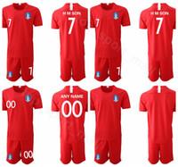 isim takımları sayılar futbol toptan satış-2019 2020 Güney Kore Futbol Forması Kırmızı Oğlu Heung-min Lee Yong HMSON YHGO Futbol Gömlek Kitleri Üniforma Özel Ad Numarası