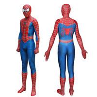 trajes de mascote para crianças venda por atacado-New Spiderman Costume 3D Impresso Crianças Adulto Lycra Spandex Homem-Aranha Traje Para O Dia Das Bruxas Mascot Cosplay