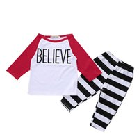 Wholesale baby outfits for boys winter resale online - Baby Boy Clothing Sets Casual T shirt Pants Clothing Two Piece Suit Cotton Suit Outfits For Newborn Infant Clothing