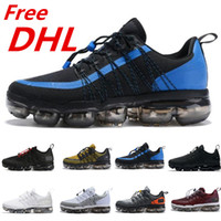 Wholesale canvas shoes dhl free for sale - Group buy Free DHL Run Utility Men Running Shoes Triple Black white Anthracite Reflect Silver Discount Runner mens trainers Sports Sneakers