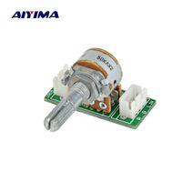 ingrosso doppio potenziometro-AIYIMA 1PC Un 50K 100K ALPI potenziometro RK16 doppio 6-pin Volume potenziometro PCB Board Con XH2.54