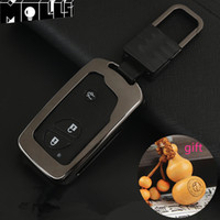 lexus schlüsselkastenabdeckung großhandel-Zinklegierung Key Case Bag Schlüsselabdeckung für Lexus GX RX-Schlüsselabdeckungs-Gehäusering