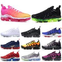 zapatillas deportivas para hombre al por mayor-Nike Air Vapormax tn Plus TN Plus Laser Fuchsia Psychic Black Volt Racer Blue University Red tn Mujeres Zapatos para correr Zapatillas de deporte para hombre de deporte