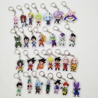 resina do anime da figura de ação venda por atacado-Dragonballkey Keychain Chaveiro Z Chaveiro Acrílico Anime Anéis Son Goku Vegeta Broly Trunks Buu Action Figure Chaveiro