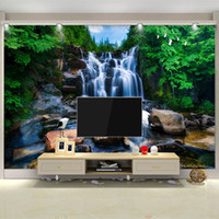 ingrosso cinese sfondi hd 3d-Arkadi Custom Chinese Wallpaper Murales Natural Landscape Cascate Stone Crane Wall Mural 3D HD Photography Soggiorno TV Wall Papers