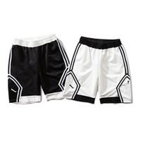 pantalones de baloncesto spandex al por mayor-Pantalones cortos de diseñador Pantalones cortos para hombre Pantalones cortos de baloncesto deportivos Pantalones deportivos de marca Jogger de moda The Shot Goat Men Blanco y negro