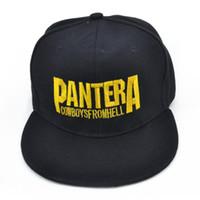 Pantera banda de heavy metal Carta bonés de beisebol Cowboys Do Inferno rock  hip-hop cap moda Homens e mulheres chapéu snapback 0780a0a2c0c
