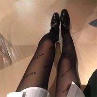 bayanlar seksi çoraplar toptan satış-Kadınlar Için moda Marka Çorap Siyah Ince Bayan Tayt En Kaliteli Tasarımcı Marka Çorap Seksi Izgara Çorap Kadın
