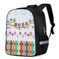 Wholesale diapers owl resale online - Cartoon Kid Cute Owl Laptop Shoulderbag Computer Backpack Laptop Backpacks Kids Backpacks Casual Daypacks Sports Bag Diaper Bag
