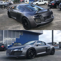 Matte Anthracite Metallic Vinyl Wrap Gunmetal Matt Car Wrapping Film Covering Foil With Air Bubble Free Size 1.52x20 meters Roll