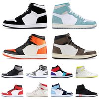 Wholesale scott cycling tops for sale - Group buy Multi Color Satin Shattered Jumpman travis scott Top Mens Basketball Shoes Turbo Green Twist Royal Blue Shadow womens sneakers trainers