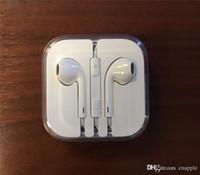 micrófono de buena calidad al por mayor-Buena calidad para el iPhone 5 6 Auricular Auricular Auricular Auricular 3.5mm Con volumen de micrófono Auriculares remotos Para iphone5 iphone6 6S Plus 5S 4S