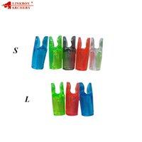 avcılık longbow toptan satış-Linkboy Okçuluk 60 adet Linkboy Okçuluk Plastik Ok Nock Set Bileşik Olimpik Yay Longbow Ok Fabrika Fiyat Avcılık