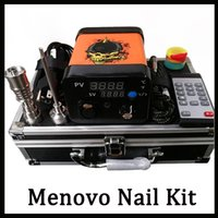 Wholesale tc dab coil resale online - Newest Menovo Electric Titainium Dab Nails Pen Rig Oil Wax Dabbing PID TC Box With Domeless Coil Heaer Dnail Kit Silicone Pad