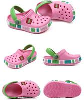 kızlar için düz lastik ayakkabılar toptan satış-Bebek Çocuk Kauçuk Katır Sandalet Juniors Erkekler Kızlar Yaz Delikler Terlik Plaj Açık Su Ayakkabı çevirin Flop Düz Delik Ayakkabı 7colors C7201