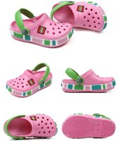 pisos zapatos agujeros al por mayor-Zapatos de bebé para niños agujeros de goma mulas sandalias Juniors Niños Niñas zapatillas de playa de verano agua al aire libre del flip flop Zapatos plana Hole 7Colors C7201