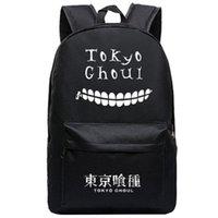 mochilas blancas al por mayor-Tokyo Ghoul Oxford Impreso Half Face White Kaneki Ken Mochila Mochilas escolares para adolescentes Escuela Mochila Satchel Bolsas de viaje