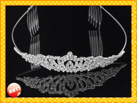 Wholesale adult tiaras for sale - Group buy 2019 Modest Bridal Accessories wedding Headpieces Tiaras Cheap Designer Adult Junior Girls Tiaras For Prom Party