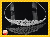 2021 Modest Bridal Accessories wedding Headpieces Tiaras Free Shipping Cheap Designer Adult Junior Girls Tiaras For Prom Party