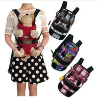 Wholesale cloth dog carriers for sale - Group buy 5styles Pet Dog Front Chest portable Cloth Backpack Carriers with Buttons Outdoor Travel Durable Shoulder Bag For Dogs Cats FFA2261