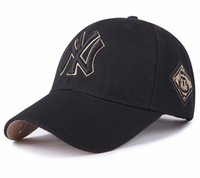 размеры колпачков оптовых-Бейсбольная кепка высшей лиги янки бейсболка саржа NY черный все кепки спортивные повседневные изогнутые карнизы для мужчин и женщин регулируемые размеры