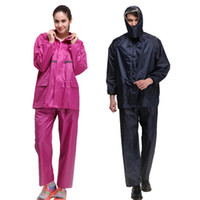 bisiklet yağmurluk erkek toptan satış-Kadın / Bisiklet Yağmurluk Yağmur Pantolon Suit Açık Su Geçirmez Sürme Elbise Güneş Panço