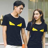 ingrosso t si fonde-Mens Designer T Shirts Moda Uomo Abbigliamento Estate Casual Streetwear T Shirt Rivet misto cotone girocollo manica corta