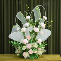 ingrosso farfalle di piombo-Forma di farfalla Display Flower Stand Road Lead Centrotavola in metallo Piedistallo in metallo per decorazione di eventi per matrimoni