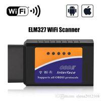 obd2 herramientas de diagnóstico wifi android al por mayor-Coches WiFi OBD2 ELM 327 V1.5 interfaz trabaja en Android de par CAN-BUS herramienta bluetooth ELM327 OBD2 / OBD II escáner de diagnóstico del coche