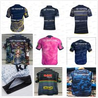 ingrosso pullover nero di cowboy-2019 20 RUGBY JERSEY Rugby League Blue Cowboys souvenir edition Pink Black Indigenous camouflage leopard North Queensland Cowboys Maglie