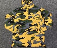 ingrosso abbigliamento giubbotto giallo-Brooklyn Jacket Uomo Donna Hooded Logo Half Zip Pullover Giacche mimetiche gialle di alta qualità Abbigliamento Giacca a vento Hip Hop Brooklyn