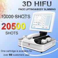 preços máquina de levantamento facial venda por atacado-3D HIFU Face lifting corpo máquina de emagrecimento ultra-som Remover pescoço rugas máquina com melhor preço hifu beleza máquina