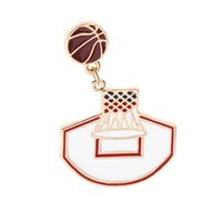 Apparel Sewing & Fabric Creative Hot Fashion Style Basketball Frame Basketball Pins And Badges Pin Badges Hat Backpack Accessories Lovers Jewelry Gift Badges