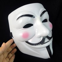 v máscaras anónimas al por mayor-Nueva llegada Máscara de Vendetta máscara anónima de los modelos de explosión de Guy Fawkes V Para Vendetta Movie Mask Halloween (tamaño adulto) Envío gratuito