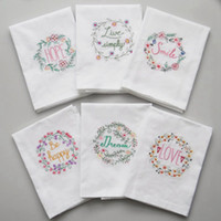 Wholesale cloth napkins for sale - Group buy Wedding Table Napkin Handkerchief Cloth Napkins for Dinner Party Supply Wedding Favors