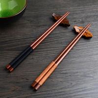 ingrosso bacchette fatte a mano-Bacchette in legno di castagno naturale giapponese fatto a mano Set regalo cinese Sushi Linea regalo