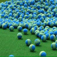 satılık mavi toplar toptan satış-Golf Sünger Topu Eğitim Uygulama Yüksek Kaliteli Toyball Çevre Dostu Profess Mavi Gökkuşağı Topları Sıcak Satış 0 24hm D1